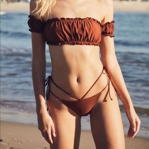 Pacsun 2 piece bikini brown new